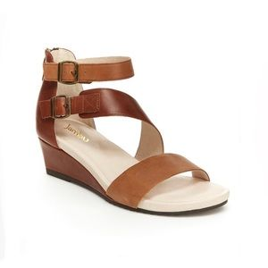 Jambu Size 9 NWT Brown Leather Wedge Sandal